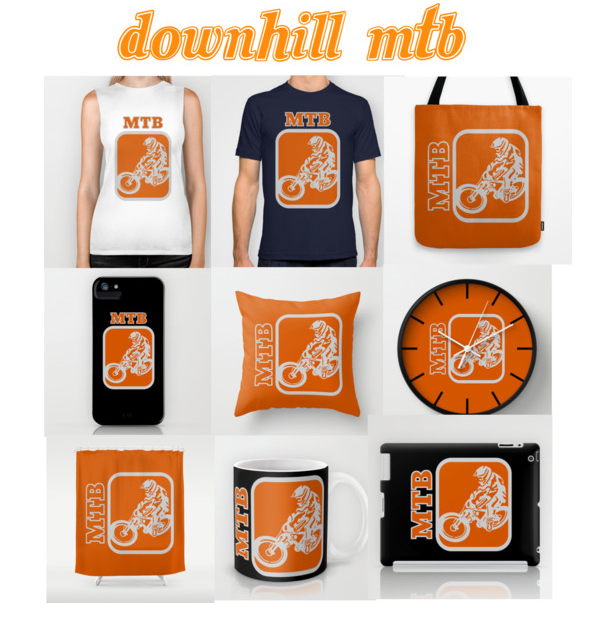 grey and orange, bright orange, vector, mtb, mountain biking, mountain bike, free riding, mountain bike jump, bike bicycle, cycling, stylised bicycle, white space, bike, cyclist, T-SHIRT, POLYVORE, COLLAGE, CLOCK, IPHONE, SHOWER CURTAIN, TOTE BAG, SOCIETY 6