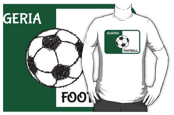 football, soccer, t-shirt, algeria, flag of algeria, redbubble
