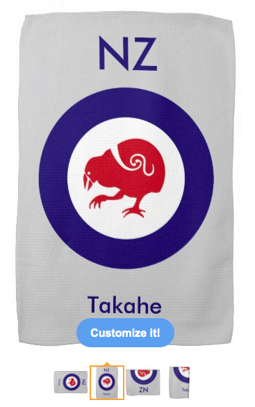 roundel, flag, takahe, flightless bird, new zealand bird, koru, maori, red white and blue, stylised bird, air force, airforce, maori design, red bird, kitchen towel