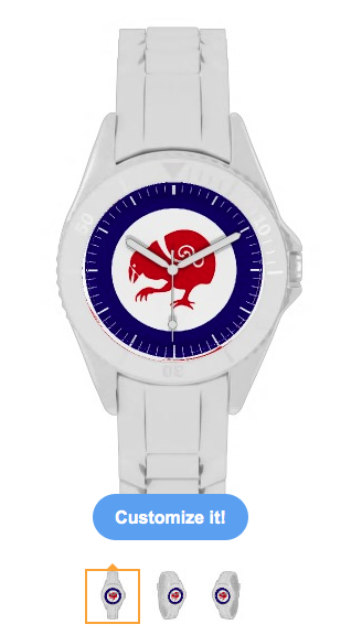 roundel, flag, takahe, flightless bird, new zealand bird, koru, maori, red white and blue, stylised bird, air force, airforce, maori design, red bird, Watches