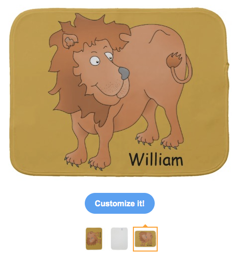 lion, cute lion, cartoon lion, smiling lion, personalized, customizable, big cat, wild animal, african, animal, burp cloths