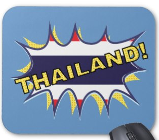 Thai flag KAPOW starburst Mouse Pad