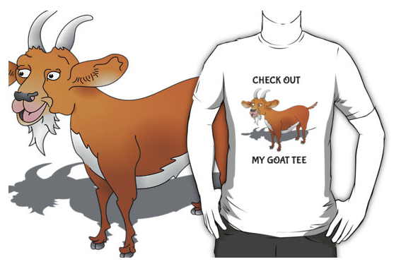 funny, humour, goat humour, goat joke, goatee, beard, goatee beard, goat, billy goat, nanny goat, cartoon goat, happy goat, goat tee, check out my goat tee