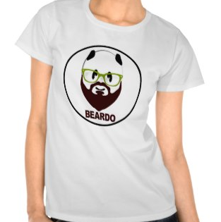 Picture, beard, beardo, weird, mustache, panda, panda bear, green glasses, panda wearing glasses, funny, shirt