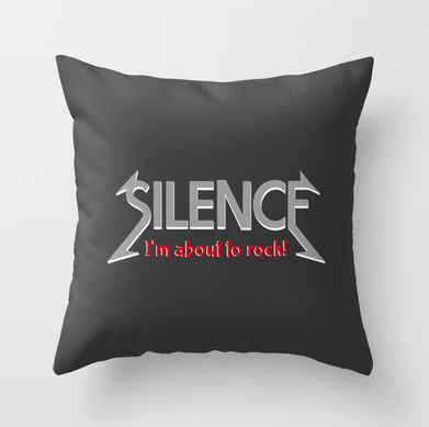 silence, im about to rock, quiet, heavy metal, be quiet, geek, cool geek, rock n roll, funny, humour, library humour, books, album cover, album cover art, typography, rock music, music