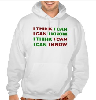 Picture, weight lifting, gym, exercise, motivation, gym motivation, i think i can, i know i can, work out, typography, i can, hooded pullover