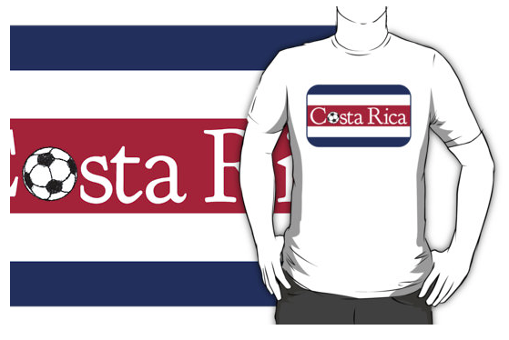 FOOTBALL, SOCCER, T-SHIRT, COSTA RICA