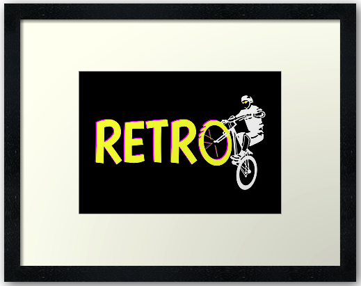 bike, bicycle, mtb, retrobike, retro bike, old school bike, white space, black and white, fluorescent colours, bright pink, bright yellow, riding, wheelie, ride, mountain bike, mountain biking