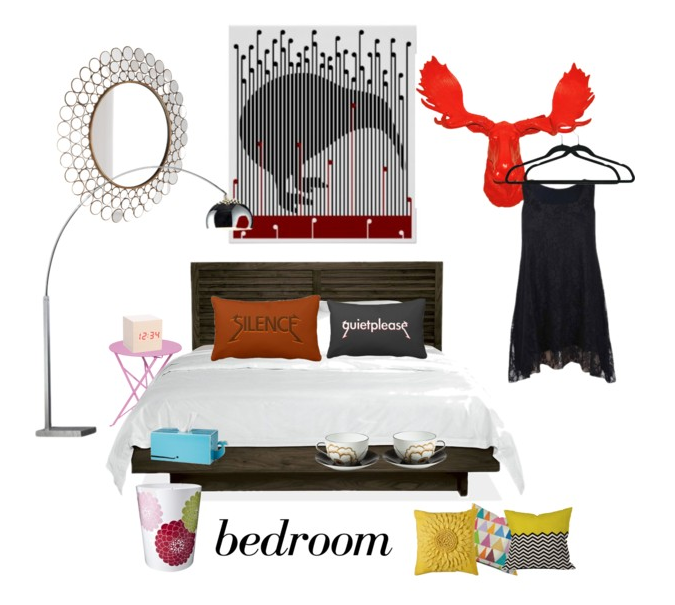 polyvore, kiwi, bedroom, quiet please, zazzle