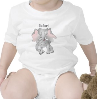 Safari cartoon African elephant Rompers by mailboxdisco