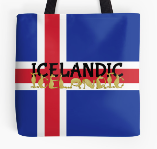 TOTE BAG, THROW PILLOW, T-SHIRT,iceland, lcelandic, icelandic pony, icelandic horse, pony, foal horse, flag of iceland, flag, cross, cartoon pony, cartoon gorse, cute pony, cute horse, flexible pony, alphabet pony