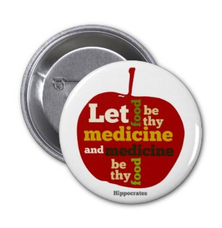 let food be thy medicine and medicine be thy food buttons by Piedaydesigns
