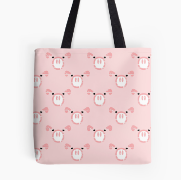 pig, pigs, cute pig, pink pig, styized pig, snout, design for kids, for girls, pink, pink duvet cover, design for her