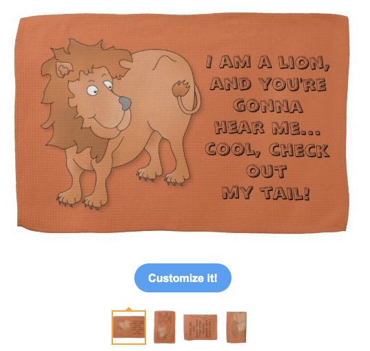 hear me roar, i am a lion, lion, tail, cute lion, king of the jungle, king, distracted, easily, cartoon lion, your gonna hear me, kitchen towel