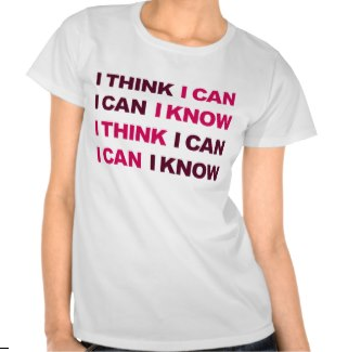 Picture, gym, exercise, motivation, gym motivation, i think i can, i know i can, work out, typography, i can, t shirts