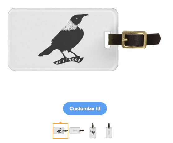 tui, bird, new zealand bird, forest bird, song bird, aotearoa, black bird, black and white, black and white bird, stylised bird, Tags for Luggage
