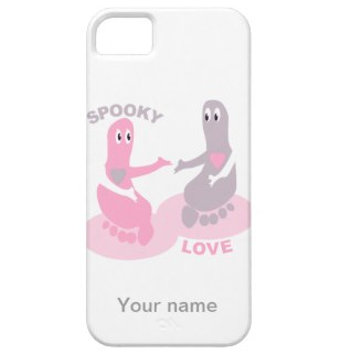 Picture, ghost, ghosts, feet, foot, love, pink ghost, spooky love, cute ghost, spooky, cute ghosts, boo, holding hands, iPhone 5/5S Cover