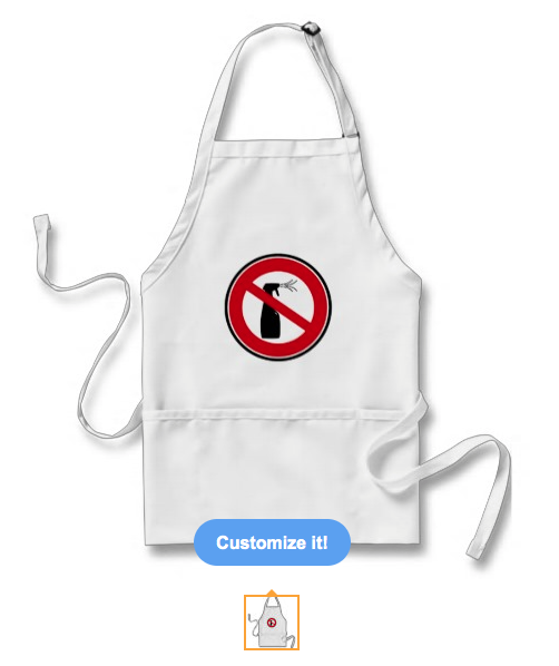 spray, chemical, toxins, organic, chemical free, chemical free zone, chemical free area, spray free, organic gardening, prohibition sign, sign, apron