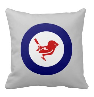Picture, new zealand, native, maori, koru, cushion, fantail, tomtit, miromiro, roundel, pillow