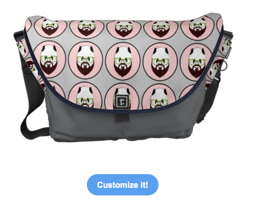 panda, bear, panda wearing glasses, panda with a beard, bear wearing glasses, bear with a beard, beard, hipster, wearing glasses, funny panda, moustache, mustache, glasses, green glasses, funny bear, messenger bags