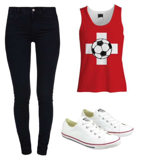 polyvore , football, soccer, switzerland, print all over me, swiss flag, soccer ball, singlet, singlet for her