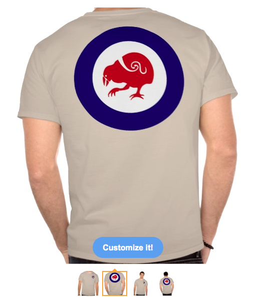 t-shirt, roundel, flag, takahe, flightless bird, new zealand bird, koru, maori, red white and blue, stylised bird, air force, airforce, maori design, red bird, tee shirt