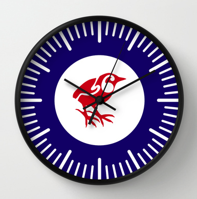 south island wren, rock wren roundel, flag, airforce, rock wren, wren, piwauwau, small bird, new zealand bird, koru, maori design, maori art, red white and blue, red bird, stylised bird, air force