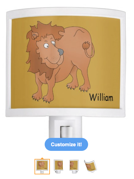 lion, cute lion, cartoon lion, smiling lion, personalized, customizable, big cat, wild animal, african, animal, nite lites, night light