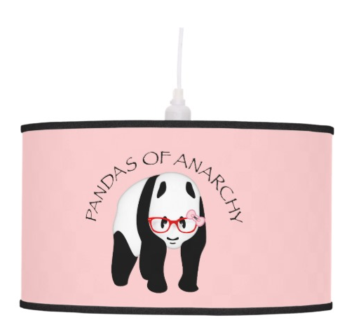 Pandas of Anarchy by Piedaydesigns  pendant lamp