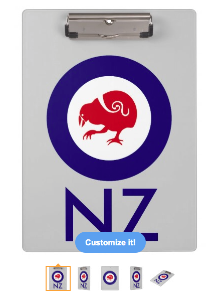 roundel, flag, takahe, flightless bird, new zealand bird, koru, maori, red white and blue, stylised bird, air force, airforce, maori design, red bird, Clipboard