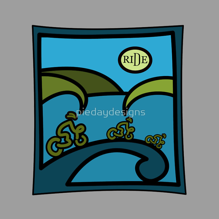 bike race, road bike, cycling, new zealand, koru, maori design, marlborough sounds, bike, bicycles, race, tour, cycle tour, cycling touring, TOTE BAG, T-SHIRT,