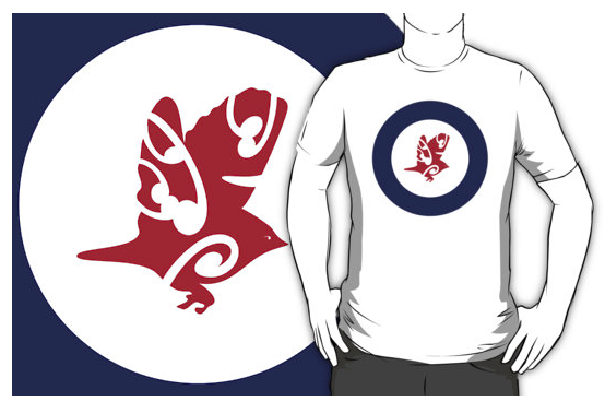t-shirt, tauhou, slivereye, wax eye, white eye, bird, new zealand bird, australian bird, koru, maori design, airforce, roundel, new zealand, flag, roundel flag, flying bird, small bird, air force
