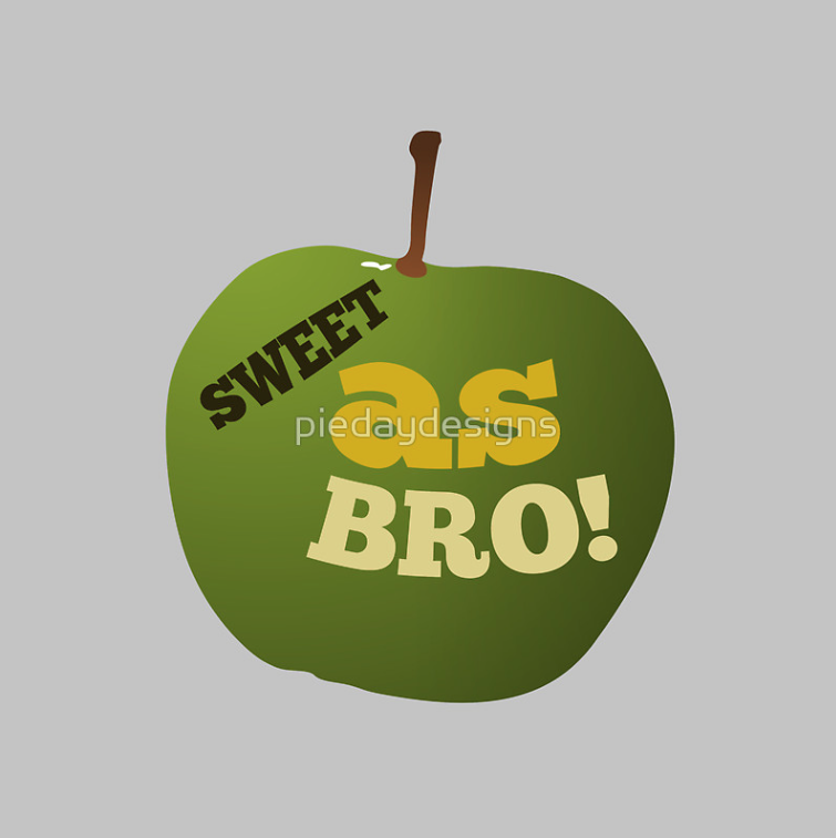 redbubble,  sweet as, sweet as bro, apple, green, juicy, typography, all good, no worries, kiwi slang, new zealand, new zealand slang, slang, kiwi lingo, new zealand lingo, new zealanders