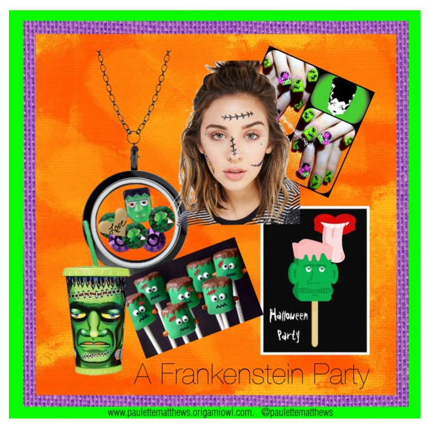 POLYVORE, FRANKENSTEIN, HALLOWEEN, COLLAGE, HALLOWEEN PARTY