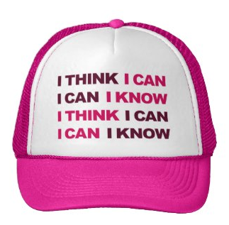 Picture, weight lifting, gym, exercise, motivation, gym motivation, i think i can, i know i can, work out, typography, i can, mesh hats