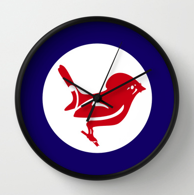 roundel, flag, airforce, tomtit, miromiro, small bird, new zealand bird, koru, maori design, maori art, red white and blue, red bird, stylised bird, air force