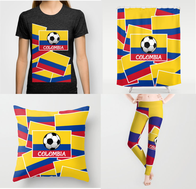 football, soccer, footy, the beautiful game, colombia, colombian, colombia football, colombia soccer, black and white ball, colombian flag, flag of colombia, yellow red and blue, tri colour, football design for kids, football banner, colombia footballl design for kids, colourful football flag, flag, modified flag