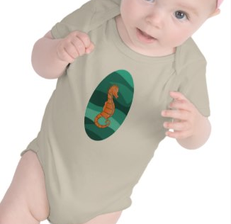 Swimming seahorse tee shirt by mailboxdisco  Make customized shirts at zazzle.com