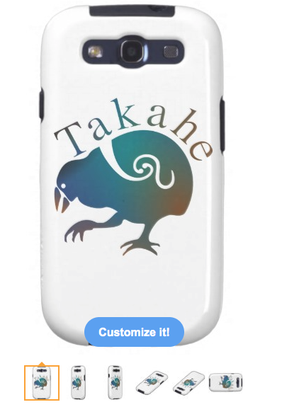 takahe, native new zealand bird, flightless bird, endemic, native, blue green orange purple, new zealand, endemic species, endangered, birds, koru, tribal, Samsung Galaxy S3 Cases