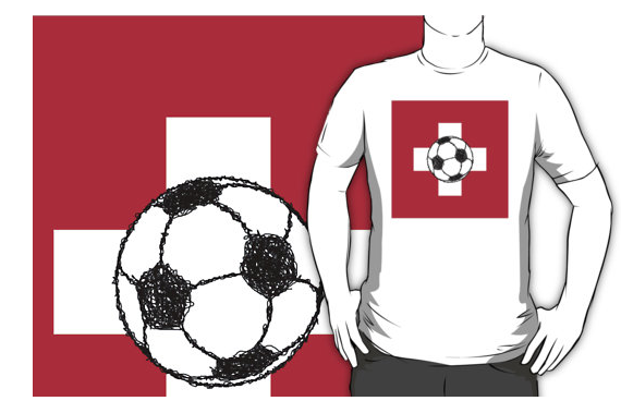 t-shirt, football, soccer , switzerland, swiss
