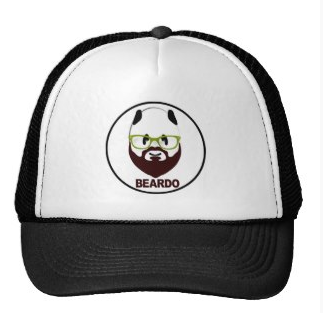 Picture, hat, cap, beard, beardo, weird, mustache, panda, panda bear, green glasses