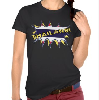 Thai flag KAPOW starburst Shirt by