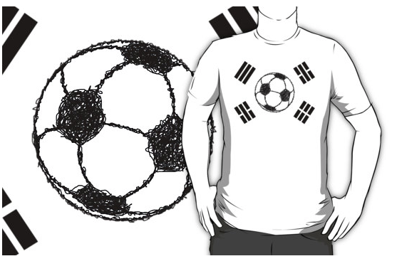 t-shirt, flag of south korea, south korea, taegukgi, taegeukgi, republic of korea flag, football foot ball, soccer, soccer ball, the beautiful game, ball, ball sketch, stylised football, flag