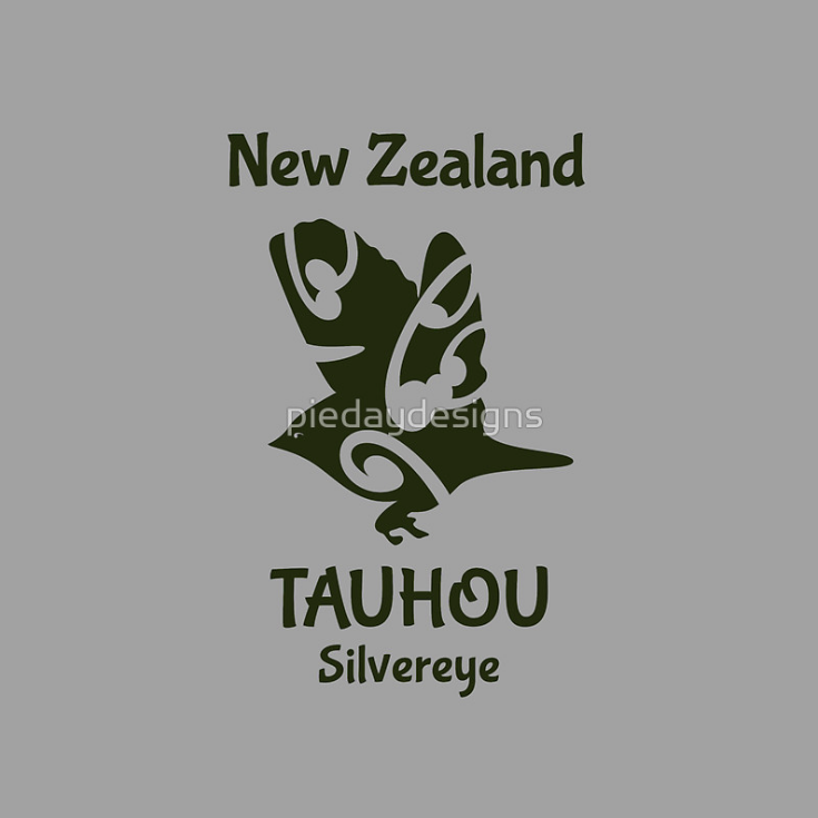redbubble,  silvereye, kiwi, bird, new zealand, tauhou, maori design, koru, new zealand bird, small new zealand bird, wax eye, logo styye, bird logo, new zealand forest