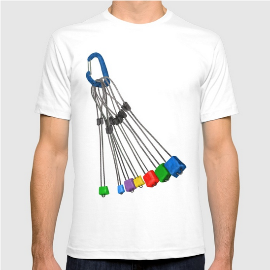 rock climbing wires tshirt