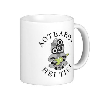 coffee, kiwi, native, tiki, hei tiki, new zealand, ukulele, pink, colour, tea, koru, maori, uke, mugs