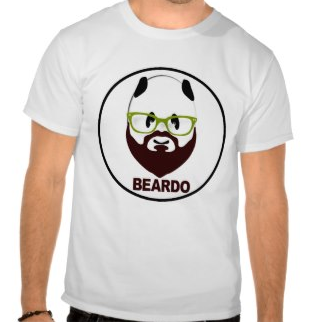 beard, beardo, weird, mustache, panda, panda bear, green glasses, panda wearing glasses, funny, humorous, weirdo, whiskers, bear wearing glasses, t-shirt, picture