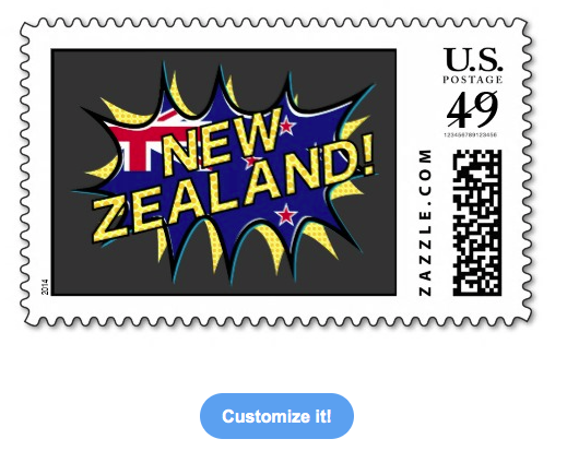 new zealand, kiwi, flag, flag of new zealand, new zealand flag, starburst, kapow, aotearoa, red white blue, union jack, postage stamps
