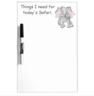 Happy cartoon African elephant Dry-Erase Whiteboard by mailboxdisco