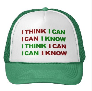 gym, exercise, motivation, gym motivation, i think i can, i know i can, work out, typography, i can, mesh hats